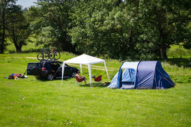 camping and mountainbiking